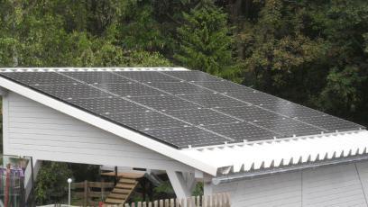 Solarcarport mit LG Solar in Eisenach