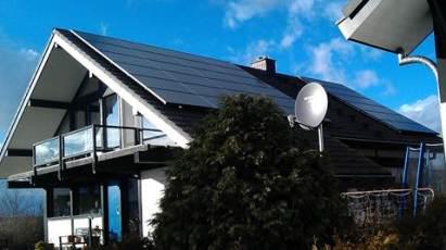 Solaranlage mit Q.Cells Modulen in Hessen, Landkreis Fulda