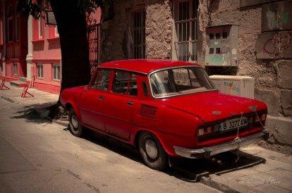 Oldtimer, vintage car, rot