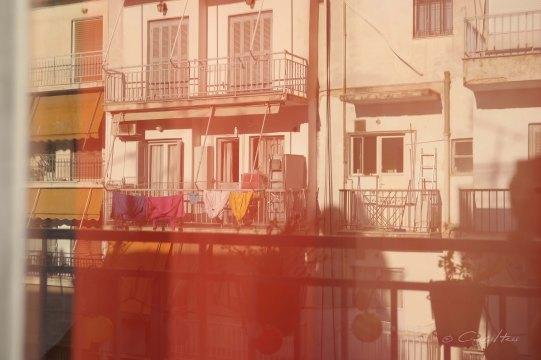 balconies, Spiegelung, Fenster, window, Wäsche, Athen, Athens, Kallithea, mirror