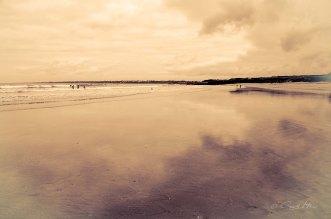 Strand, Surfer, France, Bretagne, Frankreich, Guidel Plages