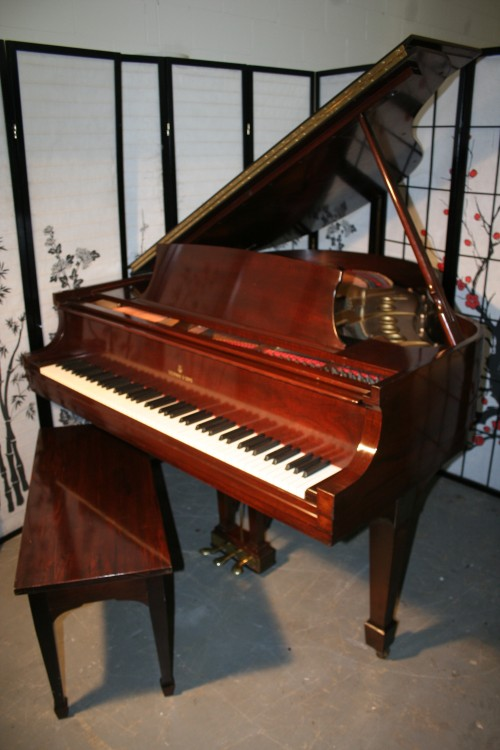 Steinway Baby Grand Piano Model S 5'1' 1942 Gorgeous Cherry Flame Mahogany Rebuilt/Refinished $15,500.