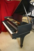 Steinway L Grand Piano Brand New Satin Ebony Finish, Original Steinway Parts $18,500.