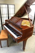 Story & Clark Baby Grand Player Piano Ribbon Mahogany w/QRS Player System $7950.
