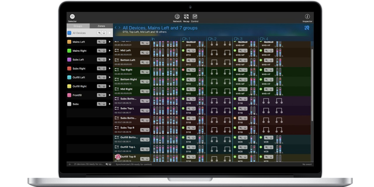 Nexo NeMo 2, logiciel de gestion système