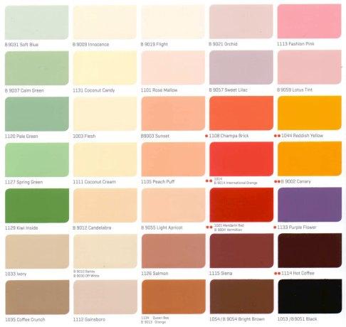 Bảng màu sơn nội thất Nippon cho dự án mới nhất