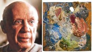 Picasso själv Hans palett
