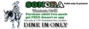 Purchase 2 meals get an app or dessert