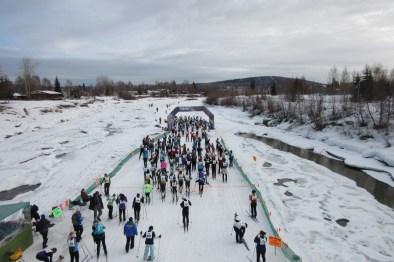 20 km start line