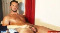 Massimo handsome innocent delivery male in a gay porn.