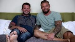 NextDoorBuddies Hot Tatted Beefcake's First Time