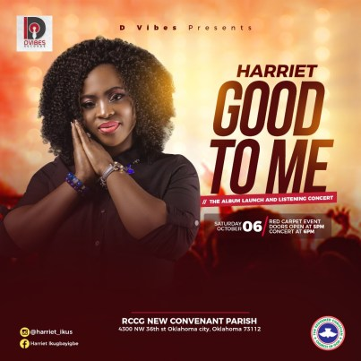 """Harriet To Set To Host """"GOOD TO ME"""" Album Launch and Listening Concert"""