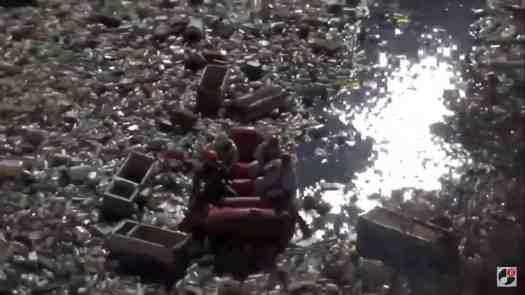 Scoperto un lago di rifiuti