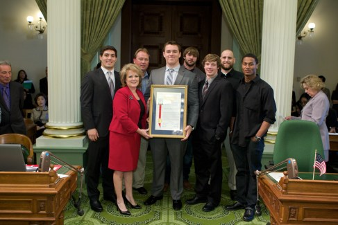 Assemblywoman Shannon Grove and the Bakersfield College Renegades
