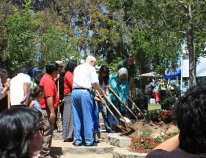 100th tree planting Mayor Hall with Christian, Gomez heitzeberg April 20 2013