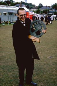 Joe Huszti with trophy 1965