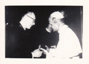 Joe Huszti with Pope Paul VI, 1965. Photo courtesy Char Gaines.