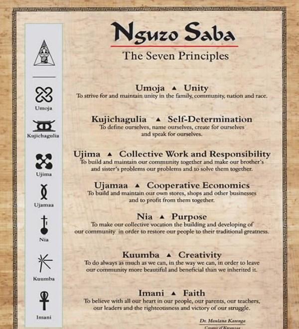 Nguzo Saba The Seven Principles