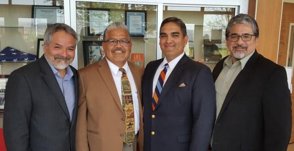 Dr. Emmet Campos, Dean Rodriguez, Dr. Victor Saenz, Dr. Mark Martinez