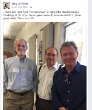 Chevron Design Challenge Bob Price