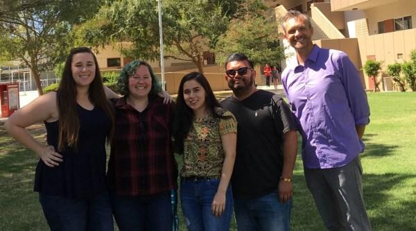 Ashely Anderson, Leah Carter, Elizabeth Sanchez, Christian A. Gutierrez, Mathematics Professor Joshua Lewis
