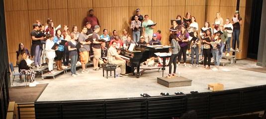 Jen Garret and Choir Koren delegation