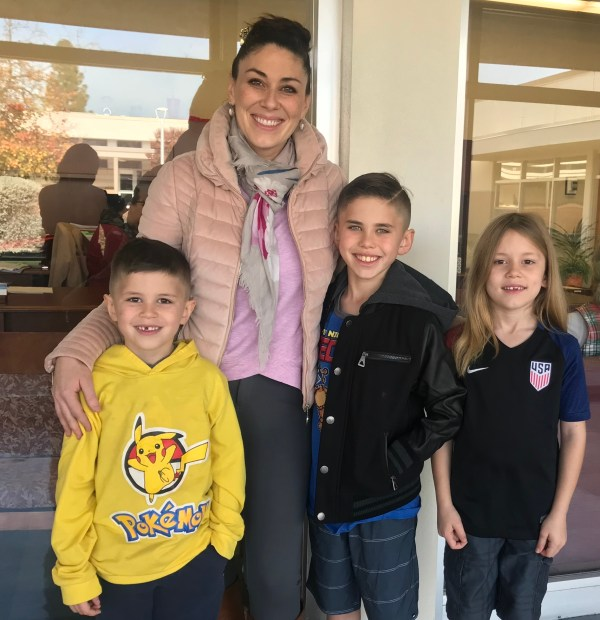 Andrea Thorson with her three sons Dec 19 2017.jpg