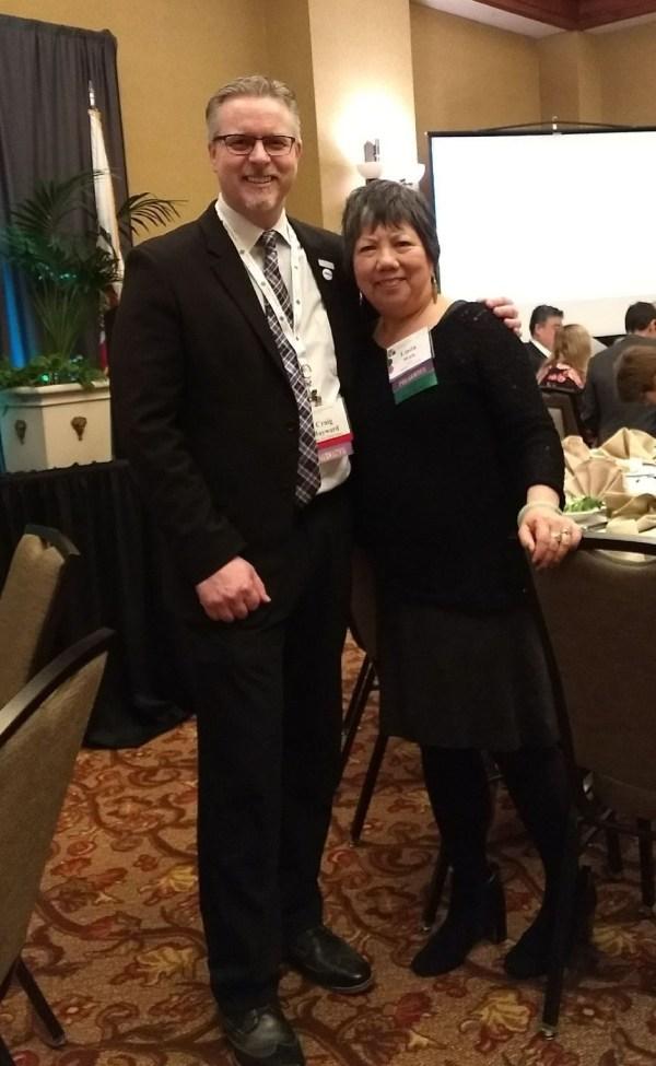 Craig Hayward and Linda Wah presenting at Trustees Workshop at CCLC Jan 28 2018