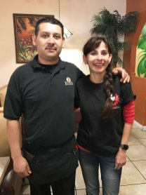 Sonya Christian with Arturo at Don Pericos October 20 2017