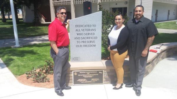Paul Beckworth, Angelica Perez, and Armando Trujillo at Porterville College