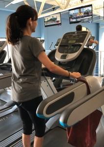Sonya Christian on treadmill after 8 weeks of hiatus June 7 2018