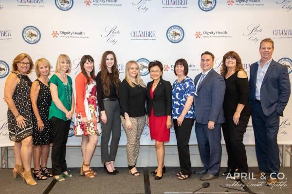 Nick Ortiz and Karen Goh with Chamber Staff