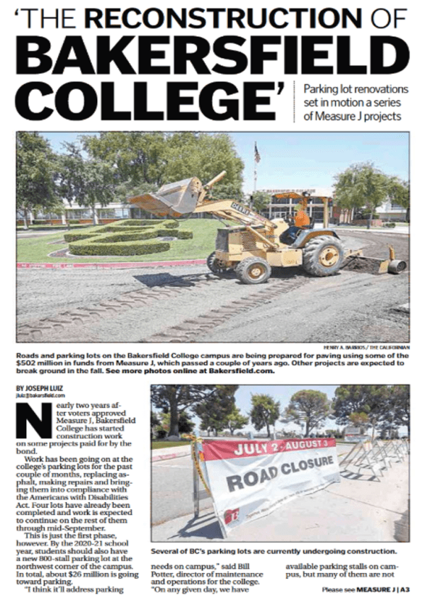 Reconstruction of BC July 14 2018 TBC Front Page above the fold