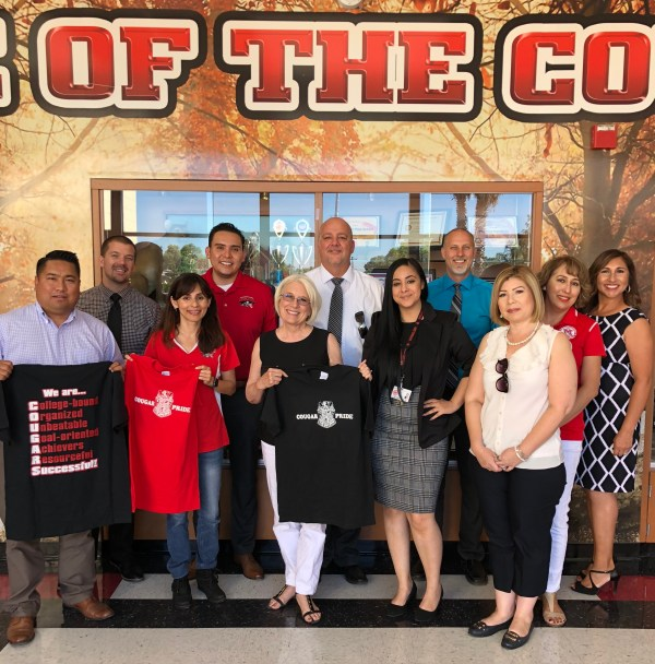 Romeo Agbalog, Sonya Christian, Jean Fuller, Abel Guzman, Raquel Lopez at McFarland High Aug 4 2018