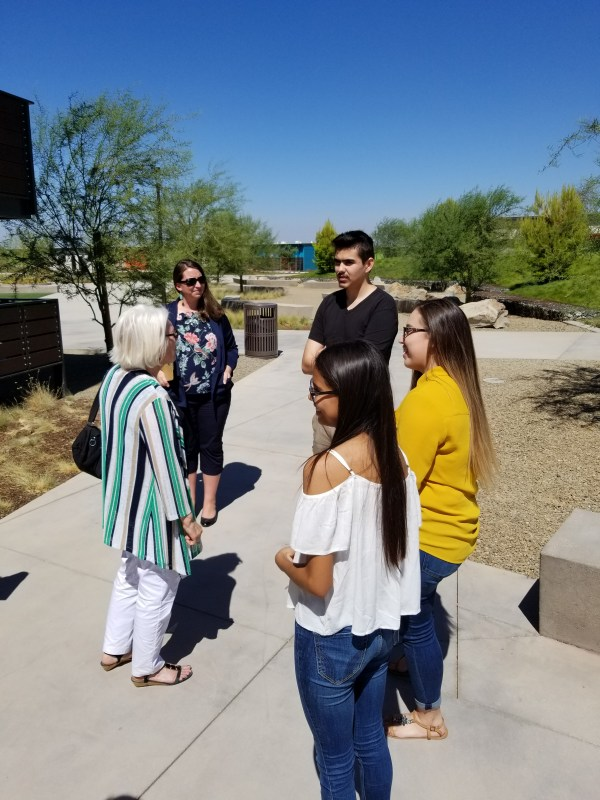 Rural Tour - Students speaking to Senator Jean Fuller