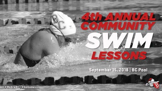 4th Annual Community Swim Lessons September 14 at BC Pool
