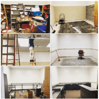 Student employment lab renovations