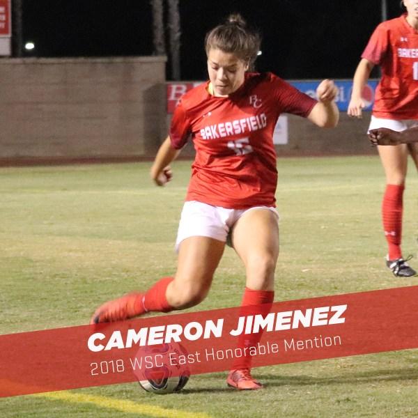 Cameron Jimenez kicking the soccer ball