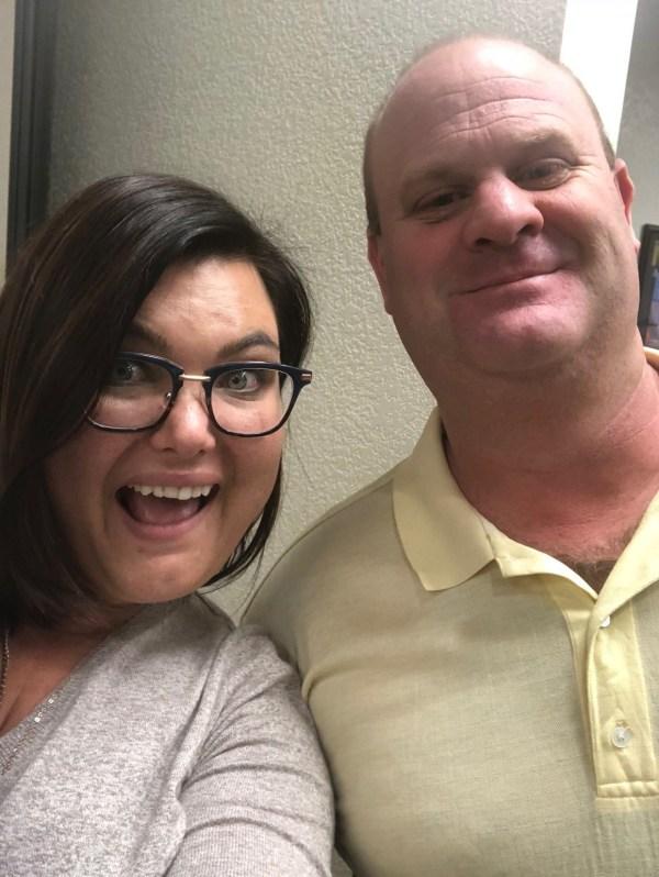 Tamara Baker and Bill Potter take a selfie