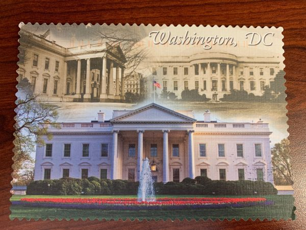 Washington, DC postcard with pictures of the White House