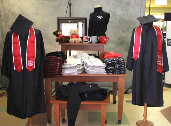 Graduation display at BC bookstore