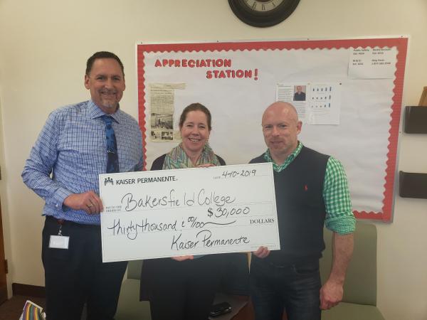 Presentation of $30k grant check