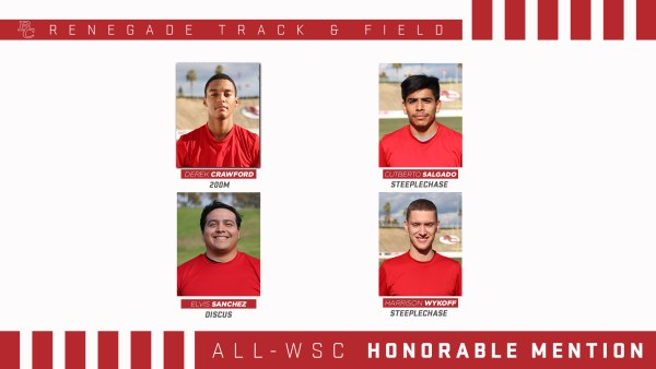 BC Renegade Track and Field Male All - WSC Honorable Mention portraits.