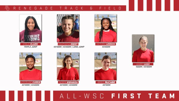 BC Renegade Track and Field Female All - WSC 1st team portraits.