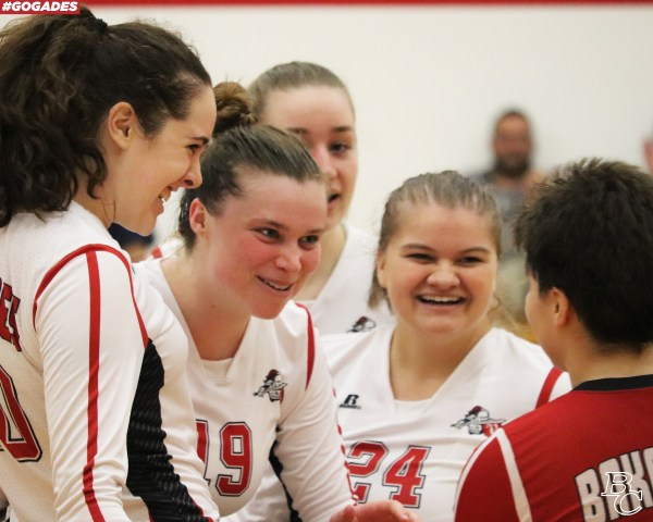 BC Volleyball team smiling