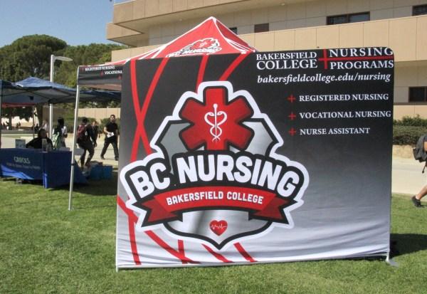 A large BC Nursing sign.