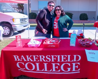 The BC Foundation tables at Financial Aid Fest.