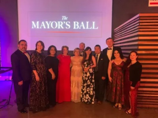 BC faculty, staff and dignitaries at the first annual Mayor's Ball.