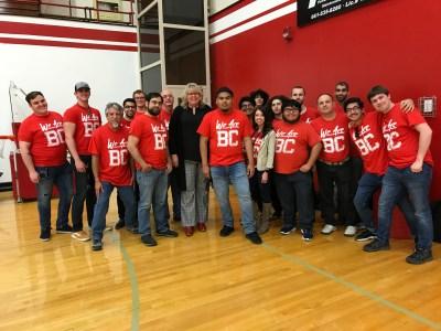 Men's Chorus with Coach Dahl.