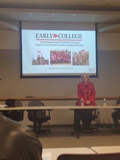Jean Fuller presenting.